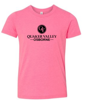 OSBORNE TODDLER, YOUTH & ADULT SHORT SLEEVE T-SHIRT - PINK