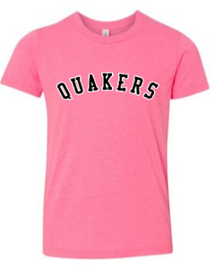 QUAKER VALLEY BREAST CANCER AWARENESS YOUTH & ADULT SHORT SLEEVE T-SHIRT - PICK 1 OF 2 DESIGNS