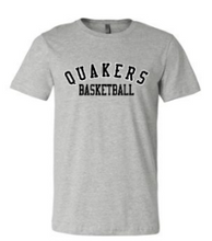 Load image into Gallery viewer, QUAKER VALLEY BASKETBALL TODDLER, YOUTH & ADULT SHORT SLEEVE T-SHIRT - BLACK OR ATHLETIC GRAY