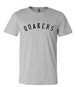 QUAKER VALLEY  TODDLER, YOUTH & ADULT SHORT SLEEVE T-SHIRT - GREY