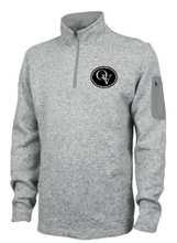 Load image into Gallery viewer, QUAKER VALLEY MEN'S  EMBROIDERED HEATHERED FLEECE PULLOVER - LIGHT GRAY OR OATMEAL