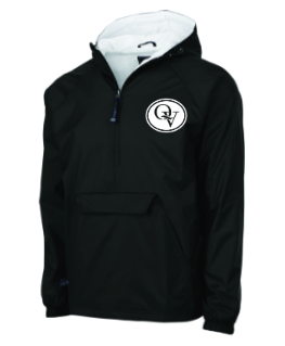 QUAKER VALLEY EMBROIDERED YOUTH & ADULT WIND & WATER RESISTANT PULLOVER