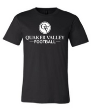 Load image into Gallery viewer, QUAKER VALLEY FOOTBALL TODDLER, YOUTH & ADULT SHORT SLEEVE T-SHIRT - BLACK OR ATHLETIC GRAY