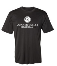 Load image into Gallery viewer, QUAKER VALLEY BASEBALL YOUTH & ADULT PERFORMANCE SOFTLOCK SHORT SLEEVE TEE - BLACK OR GRAPHITE