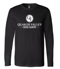 Load image into Gallery viewer, QUAKER VALLEY CROSS COUNTRY YOUTH & ADULT LONG SLEEVE TEE - BLACK OR ATHLETIC GREY