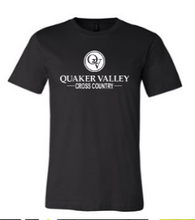 Load image into Gallery viewer, QUAKER VALLEY CROSS COUNTRY TODDLER, YOUTH & ADULT SHORT SLEEVE T-SHIRT - BLACK OR ATHLETIC GRAY