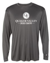 Load image into Gallery viewer, QUAKER VALLEY CROSS COUNTRY -  YOUTH & ADULT PERFORMANCE SOFTLOCK LONG SLEEVE T-SHIRT - GRAPHITE OR BLACK