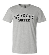 Load image into Gallery viewer, QUAKER VALLEY SOCCER TODDLER, YOUTH & ADULT SHORT SLEEVE T-SHIRT - BLACK OR ATHLETIC GRAY