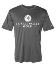 Load image into Gallery viewer, QUAKER VALLEY GOLF YOUTH & ADULT PERFORMANCE SOFTLOCK SHORT SLEEVE TEE - BLACK OR GRAPHITE