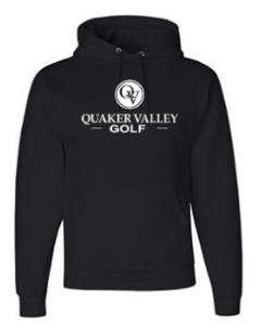 QUAKER VALLEY GOLF YOUTH & ADULT HOODED SWEATSHIRT - BLACK OR OXFORD GRAY