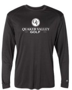 QUAKER VALLEY GOLF -  YOUTH & ADULT PERFORMANCE SOFTLOCK LONG SLEEVE T-SHIRT - GRAPHITE OR BLACK