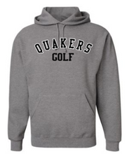 Load image into Gallery viewer, QUAKER VALLEY GOLF YOUTH & ADULT HOODED SWEATSHIRT - BLACK OR OXFORD GRAY