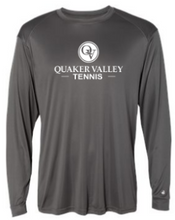Load image into Gallery viewer, QUAKER VALLEY TENNIS -  YOUTH & ADULT PERFORMANCE SOFTLOCK LONG SLEEVE T-SHIRT - GRAPHITE OR BLACK