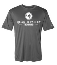 Load image into Gallery viewer, QUAKER VALLEY TENNIS YOUTH & ADULT PERFORMANCE SOFTLOCK SHORT SLEEVE TEE - BLACK OR GRAPHITE