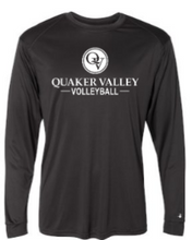 Load image into Gallery viewer, QUAKER VALLEY VOLLEYBALL YOUTH & ADULT LONG SLEEVE TEE - BLACK OR ATHLETIC GREY