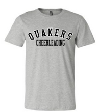 Load image into Gallery viewer, QUAKER VALLEY CHEER TODDLER, YOUTH & ADULT SHORT SLEEVE T-SHIRT - BLACK OR ATHLETIC GRAY