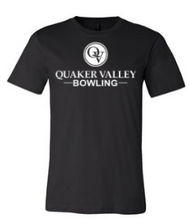 Load image into Gallery viewer, QUAKER VALLEY BOWLING TODDLER, YOUTH & ADULT SHORT SLEEVE T-SHIRT - BLACK OR ATHLETIC GRAY