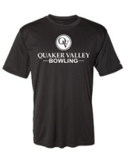 Load image into Gallery viewer, QUAKER VALLEY BOWLING YOUTH & ADULT PERFORMANCE SOFTLOCK SHORT SLEEVE TEE - BLACK OR GRAPHITE