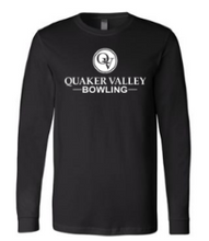 Load image into Gallery viewer, QUAKER VALLEY BOWLING-  YOUTH & ADULT PERFORMANCE SOFTLOCK LONG SLEEVE T-SHIRT - GRAPHITE OR BLACK
