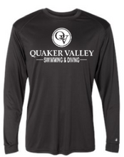 Load image into Gallery viewer, QUAKER VALLEY SWIM/DIVE YOUTH & ADULT PERFORMANCE SOFTLOCK SHORT SLEEVE TEE - BLACK OR GRAPHITE