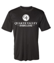 Load image into Gallery viewer, QUAKER VALLEY SWIM/DIVE-  YOUTH & ADULT PERFORMANCE SOFTLOCK LONG SLEEVE T-SHIRT - GRAPHITE OR BLACK