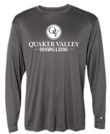 QUAKER VALLEY SWIM/DIVE YOUTH & ADULT PERFORMANCE SOFTLOCK SHORT SLEEVE TEE - BLACK OR GRAPHITE