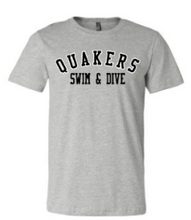 Load image into Gallery viewer, QUAKER VALLEY SWIM/DIVE TODDLER, YOUTH & ADULT SHORT SLEEVE T-SHIRT - BLACK OR ATHLETIC GRAY