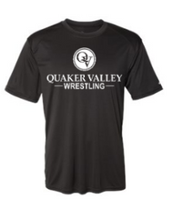 Load image into Gallery viewer, QUAKER VALLEY WRESTLING YOUTH & ADULT PERFORMANCE SOFTLOCK SHORT SLEEVE TEE - BLACK OR GRAPHITE