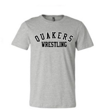 Load image into Gallery viewer, QUAKER VALLEY WRESTLING TODDLER, YOUTH & ADULT SHORT SLEEVE T-SHIRT - BLACK OR ATHLETIC GRAY
