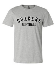 Load image into Gallery viewer, QUAKER VALLEY SOFTBALL TODDLER, YOUTH & ADULT SHORT SLEEVE T-SHIRT - BLACK OR ATHLETIC GRAY