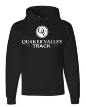 Load image into Gallery viewer, QUAKER VALLEY TRACK YOUTH & ADULT HOODED SWEATSHIRT - BLACK OR OXFORD GRAY