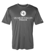 Load image into Gallery viewer, QUAKER VALLEY TRACK YOUTH & ADULT PERFORMANCE SOFTLOCK SHORT SLEEVE TEE - BLACK OR GRAPHITE