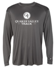 Load image into Gallery viewer, QUAKER VALLEY TRACK-  YOUTH & ADULT PERFORMANCE SOFTLOCK LONG SLEEVE T-SHIRT - GRAPHITE OR BLACK