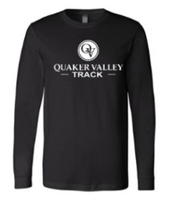 Load image into Gallery viewer, QUAKER VALLEY TRACK YOUTH & ADULT LONG SLEEVE TEE - BLACK OR ATHLETIC GREY