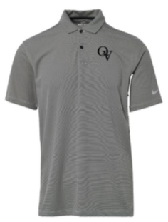 QUAKER VALLEY MEN'S EMBROIDERED NIKE TEXTURED DRY FIT VICTORY POLO