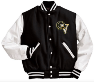 QUAKER VALLEY MEN'S EMBROIDERED VARSITY LETTERMAN JACKET - CUSTOM