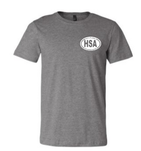OSBORNE HSA ADULT SHORT SLEEVE T-SHIRT:  RINGSPUN OR TRIBLEND