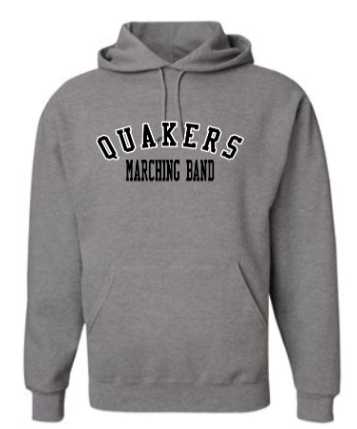QUAKER VALLEY MARCHING BAND YOUTH & ADULT HOODED SWEATSHIRT - OXFORD QUAKERS