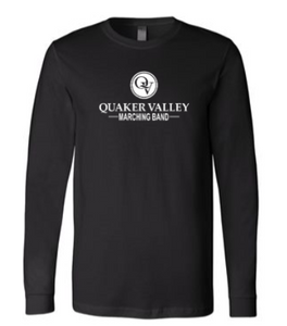 QUAKER VALLEY MARCHING BAND YOUTH & ADULT LONG SLEEVE TEE - BLACK OR ATHLETIC GREY