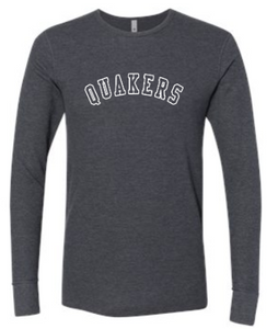 QUAKER VALLEY ADULT THERMAL LONG SLEEVE TEE - GREY OR CHARCOAL