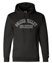 Load image into Gallery viewer, QUAKER VALLEY CHAMPION BRAND YOUTH & ADULT HOODED SWEATSHIRT - BLACK OR GRAY
