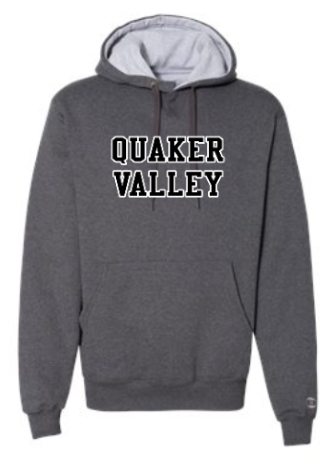 QUAKER VALLEY CHAMPION BRAND COTTON MAX ADULT HOODED SWEATSHIRT - CHARCOAL HEATHER