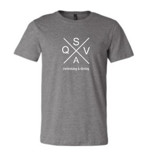 QVSA SWIMMING & DIVING TODDLER, YOUTH & ADULT SHORT SLEEVE T-SHIRT W/ 1 COLOR DESIGN