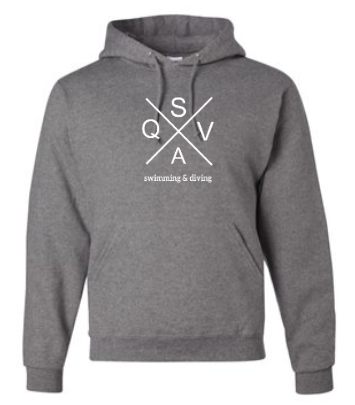 QVSA SWIMMING & DIVING: YOUTH & ADULT HOODED SWEATSHIRT- 1 COLOR DESIGN