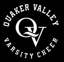Load image into Gallery viewer, QUAKER VALLEY VARSITY CHEER TAPERED PANTS * FOR PURCHASE BY VARSITY CHEERLEADERS ONLY