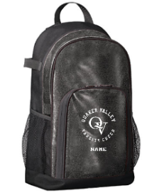QUAKER VALLEY VARSITY CHEER GLITTER BACKPACK * FOR PURCHASE BY VARSITY CHEERLEADERS ONLY