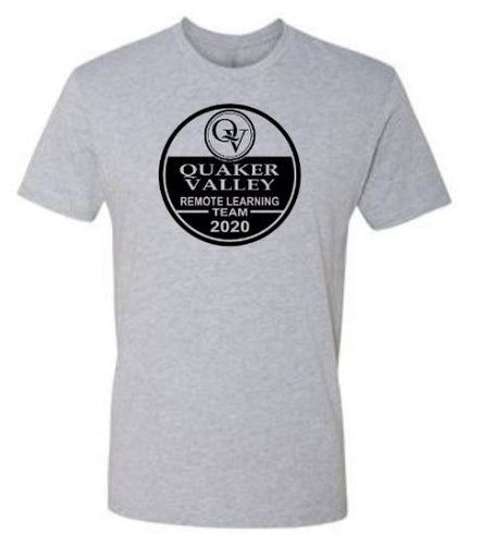 QUAKER VALLEY REMOTE LEARNING TEAM YOUTH & ADULT SHORT SLEEVE T-SHIRT