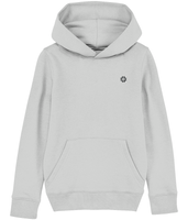 Kids Grey hoodie with Black embroidered logo