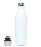 Koopsen 500ml stainless steel bottle featuring our logo in Biscay Green.
