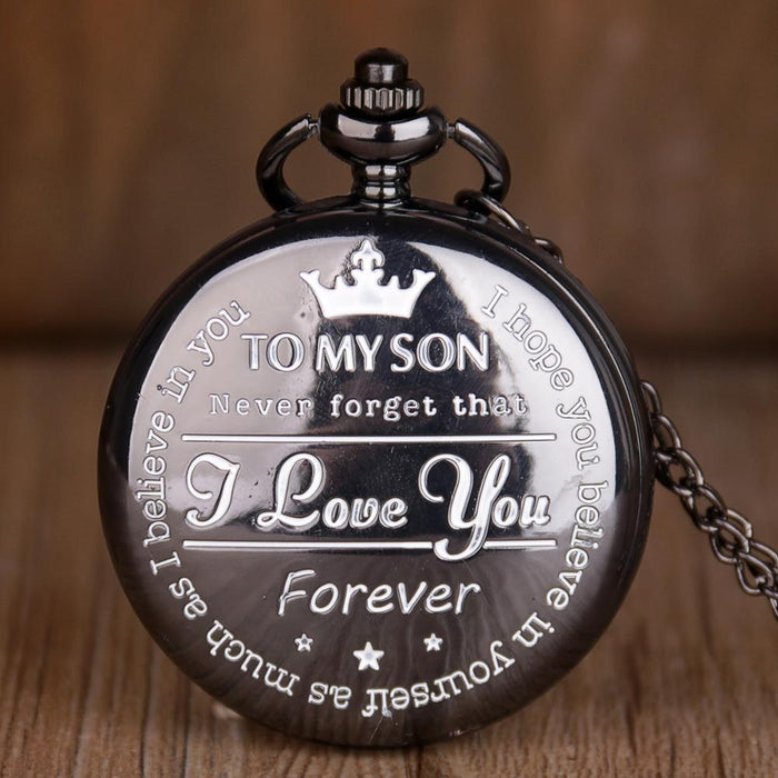 TO MY SON Luxury Pocket Watch